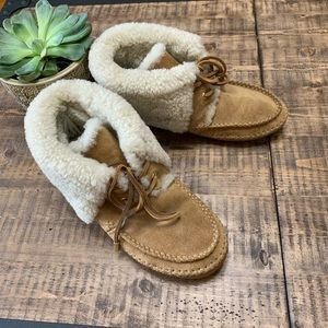 Tory Burch Nathan Moccasins shearling boots 9